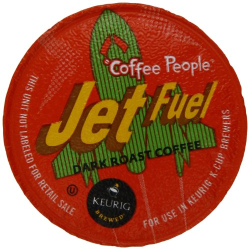 Coffee People Jet Fuel Dark Roast K-Cup Portion Pack for Keurig Brewers, 0.39 Ounce, (Pack of 50)