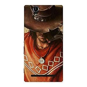 Impressive Cowboy Multicolor Back Case Cover for Sony Xperia T2
