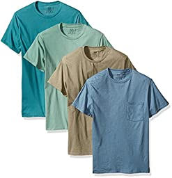 Fruit of the Loom Men\'s  Pocket T-Shirt - Colors May Vary, Assorted, Medium(Pack of 4)