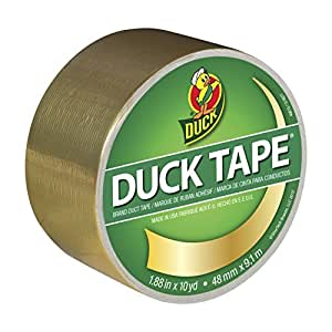 Duck Brand 280748 Metallic Color Duct Tape, Gold, 1.88 Inches x 10 Yards, Single Roll