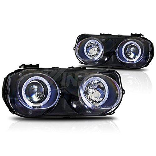 Starr Lite 94-97 Acura Integra Halo Projector Head Lights - (Black / Clear)
