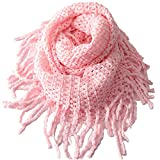 EUBUY Fashionable Autumn Winter Kids Toddler Knit Warmer Tassels Neck Scarf Circle Loop Round Scarves Shawl(Pink)