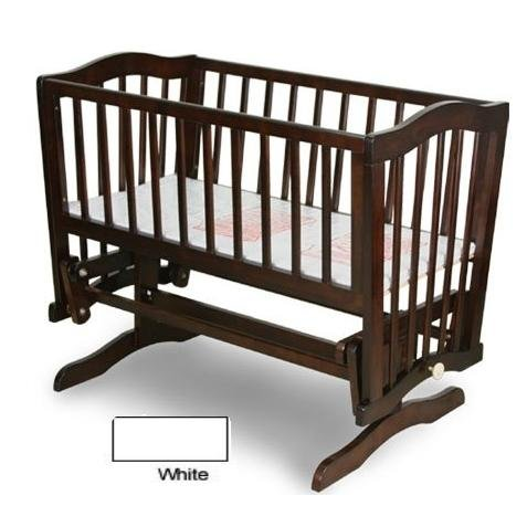 Find Discount Mary Gliding Cradle Finish: White