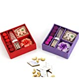 Ghasitaram Gifts Diwali Gifts - Set Of 2 Incense Sets With 200 Gms Kaju Katli