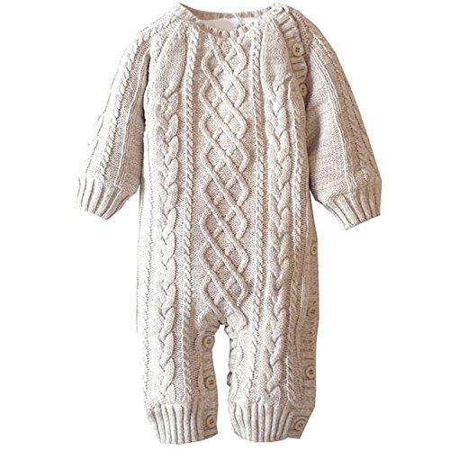 ZOEREA Unisex Tutine neonato Maglione bambino Maglioni Cardigan bimba Tutina pagliaccetto Giacca natale maglione