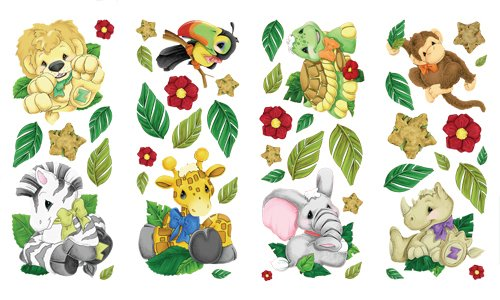 Zootles Wall Sticker Appliques - 1