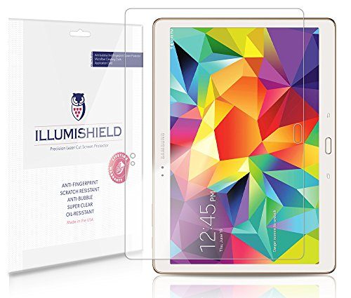 Illumishield - Samsung Galaxy Tab S 10.5 Screen Protector Japanese Ultra Clear Hd Film With Anti-Bubble And Anti-Fingerprint - High Quality (Invisible) Lcd Shield - Lifetime Replacement Warranty - [2-Pack] Oem / Retail Packaging
