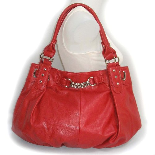 Large Slouchy Hobo Handbag (Red)