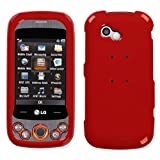 MyBat LG Neon II Phone Protector Cover - Solid Flaming Red