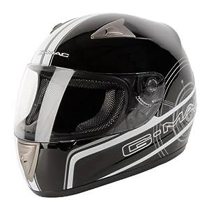 G-Mac Pilot Graphic Casque de moto intégral de course ACU Couleur or Noir Noir/Blanc xl