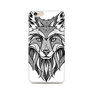 Mobicture Line Art Wolf Printed Phone Case for iPhone 6/6s