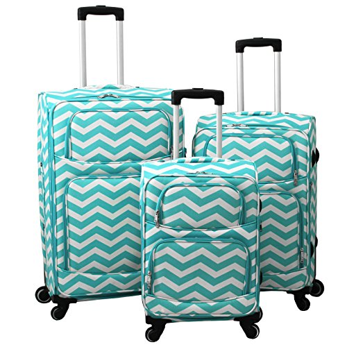 World Traveler 3 Piece Expandable Upright Spinner Luggage Set