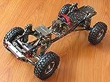 CNCアルミ RC SCX10 1/10 スケール4WDロック クローラーのシャーシフレームキット 組立済