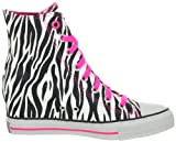Skechers Womens Zebra Gimme Fashion Wedge Sneaker