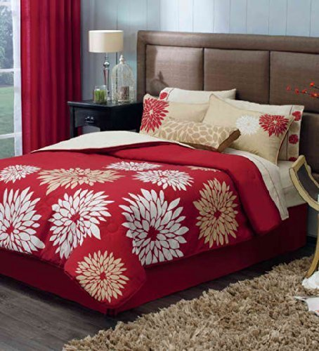 """""""Sevilla Bedding Collection! Reversible Comforter, Embroidered Sheet Set and Window Panels (King)"""""""