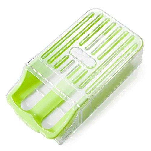 Y & B Congélateur Réfrigérateur de rangement d'œufs en plastique holder-12-egg Capacité vert