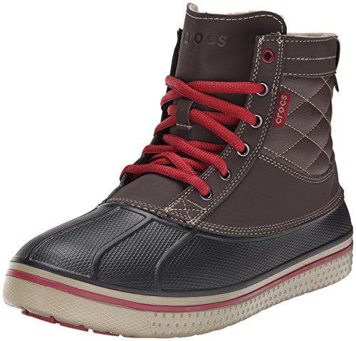Crocs Allcast Waterproof Duck Boot M, Scarpe sportive da Uomo, Colore Marrone (Espresso/Clay 2N0), Taglia 41/42 EU