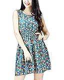 ZANZEA Women's Summer Causal Sleeveless Party Colorful Mini Dress