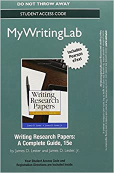 Writing a research paper pearson