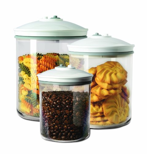 FoodSaver - FSC003-I - Lot de 3 bocaux pour appareil de mise sous vide - 0.7 L / 1.42 L / 2.37 L