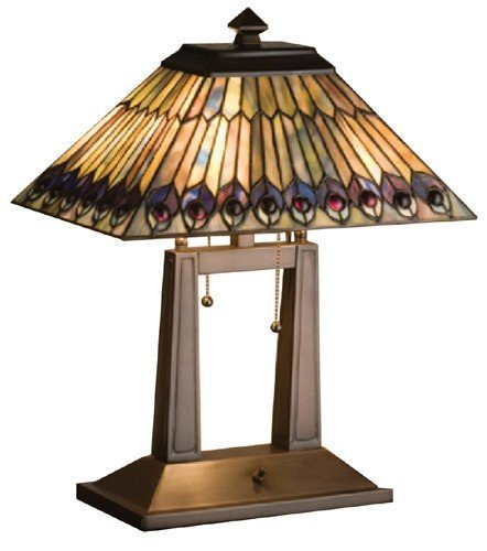 20 Inch H Jeweled Peacock Oblong Desk Lamp Table Lamps кордщетка атака 22384