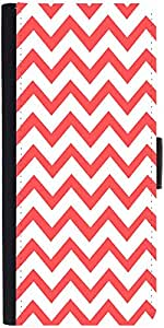 Snoogg Wave Print Graphic Snap On Hard Back Leather + Pc Flip Cover Apple Iph...