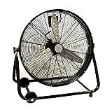 "XtremepowerUS 24"" Inch Heavy Duty Rolling Velocity Drum Floor Fan"