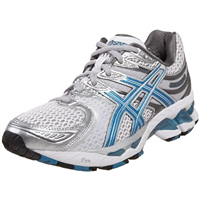 ASICS Women's GEL-Kayano 16 Running Shoe,White/Riviera Blue/Storm,5 M