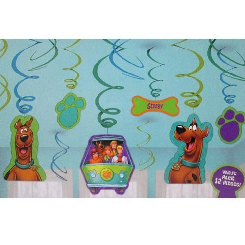Scooby-Doo Where Are You! Hanging Swirl Decorations (12pc) by Design Ware-Amscam - 1
