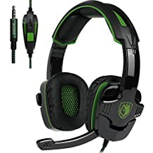 SADES Stereo Gaming Headset SA708 GT Version Over Ear Computer Headphone With Mic For Laptop PC Mac PS4 IPad IPod Phones Black Blue Sa930green Sa930green