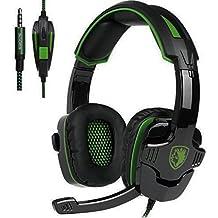 SADES Stereo Gaming Headset SA708 GT Version Over Ear Computer Headphone With Mic For Laptop PC Mac PS4 IPad IPod Phones Black Blue Sa930green Sa930green
