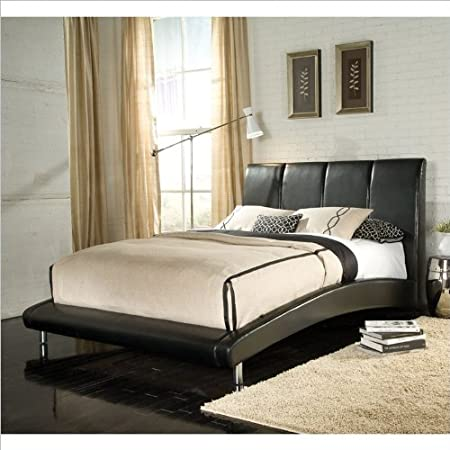 Standard Furniture Moderno Upholstered Platform Bed in Black - King