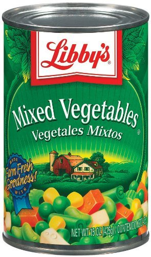 Libby's Mixed Vegetables 15oz Cans (Pack of 6) (Canned Mixed Vegetables compare prices)