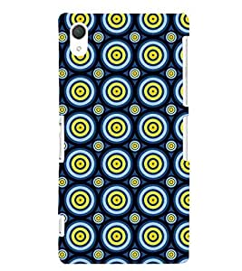 Printvisa Blue Yellow Polka Dot Illusion Pattern Back Case Cover for Sony Xperia Z2::Sony Xperia Z2 L50W D6502 D6503