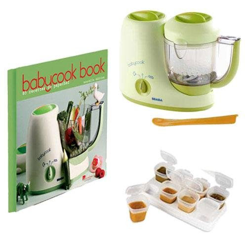 Beaba BkIT1 BabyCook 4 blender kit with Babycook Book and Baby Cubes