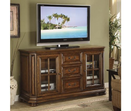 Cheap Riverside Furniture Seville Square 60 Inch High Waist TV Stand in Warm Oak (B0050N5K5M)