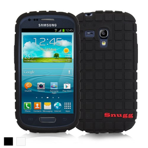 Snugg Galaxy S3 Mini Silicone Case in Black - Non-Slip Material, Protective Lightweight Case for Samsung Galaxy S3 Mini`