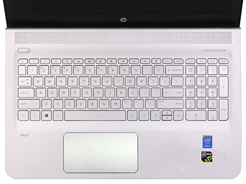 BingoBuy 5-packs Customized Trackpad Touchpad Cover Skin Protector Sticker for 15.6'' HP Envy 15-ae*** m6-ae*** m6-p*** series, e.g.15-ae065sa, m6-ae151dx, m6-p114dx (brushed steel silver) (Touch Pad Cover compare prices)