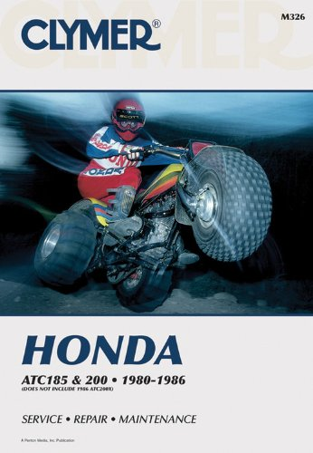 Honda Atc 185 And 200, 1980-1986: Service, Repair, Maintenance (Clymer All-Terrain Vehicles) front-581193