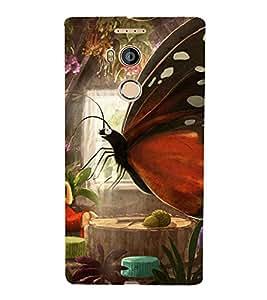 PrintVisa Girl Butterfly Design 3D Hard Polycarbonate Designer Back Case Cover for Gionee E8