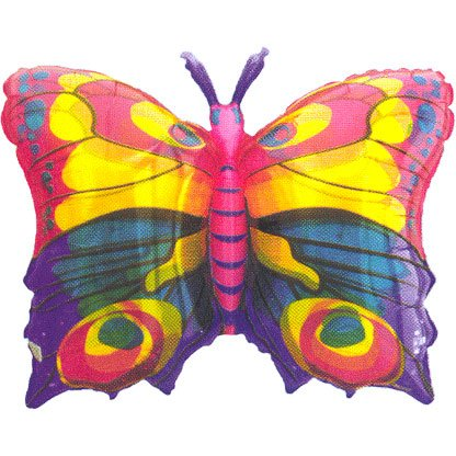 Anagram International 384801 Jewel Butterfly Foil Pack, 27 x 20""