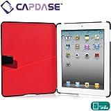 CAPDASE iPad (第3世代) / iPad 2 用 Capparel Protective Case: Forme, Black / Red ハンドメイド本革張レザーケース 「フォーマ」 (3段階スタンド機能・ドックコネクタ &イヤホンジャック キャップ つき) ブラック / レッド CPAPIPAD2-1019