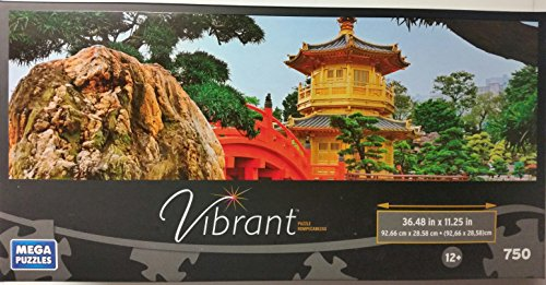 Mega Puzzles Vibrant Panoramic 750 Piece: Pagoda