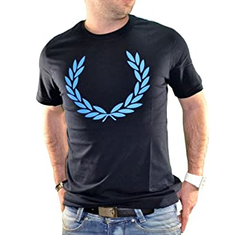 Fred Perry - T-shirt Manches Courtes - Homme - Laurel - Navy