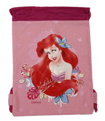Pink Ariel Drawstring Bag - Kids Drawstring Backpack - 1
