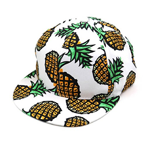 Shensee Neutral Design Pineapple Snapback Bboy Hat Adjustable Baseball Cap Hip-hop Hat (white) (Cool Snapbacks compare prices)