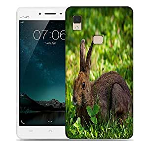 Snoogg Rabbit Sitting Designer Protective Phone Back Case Cover For Vivo V3 Max