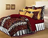 Bellagio Pure Collection Cotton 1 Double Bed Sheet & 2 Pillow Covers (Maroon)
