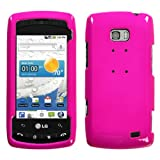 Neon Hot Pink Phone Cover Protector Case for LG Ally VS740 Verizon Wireless ....