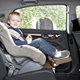 [KneeGuardKids Ⅱ] Child Car Seat Footrest, Booster Seat Footrest (Brown - rubber coating)